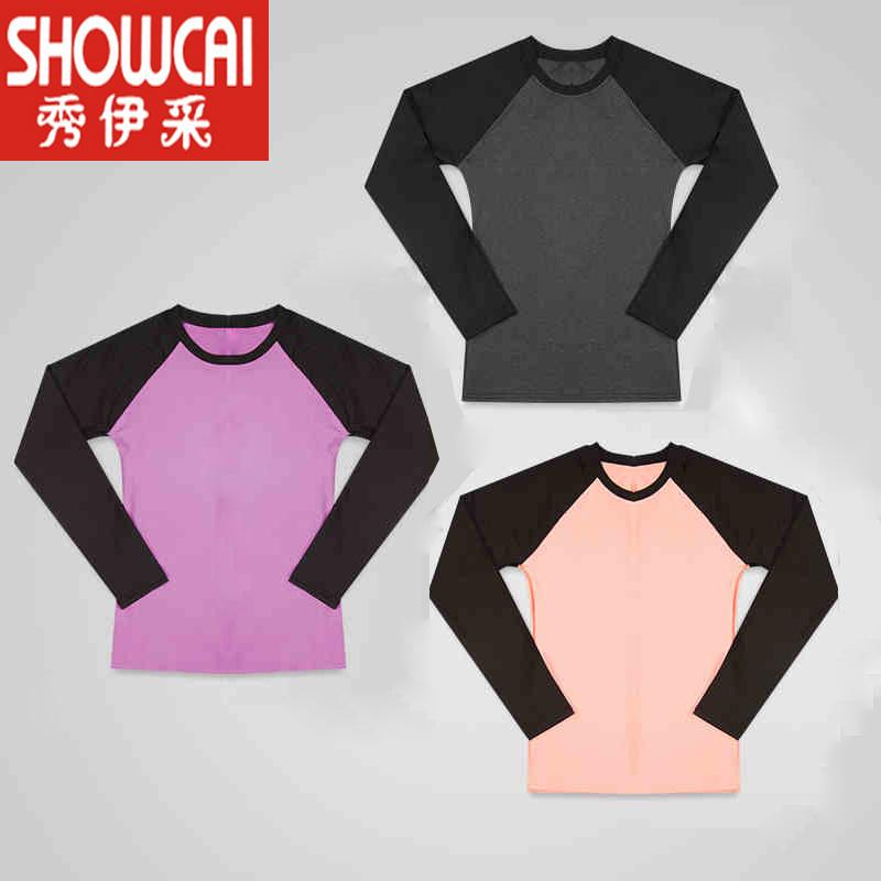 f0fbce69bee 2019 Spring New Style Yoga Clothes Tops Female Long Sleeve Sports Fitness  Large Size T-