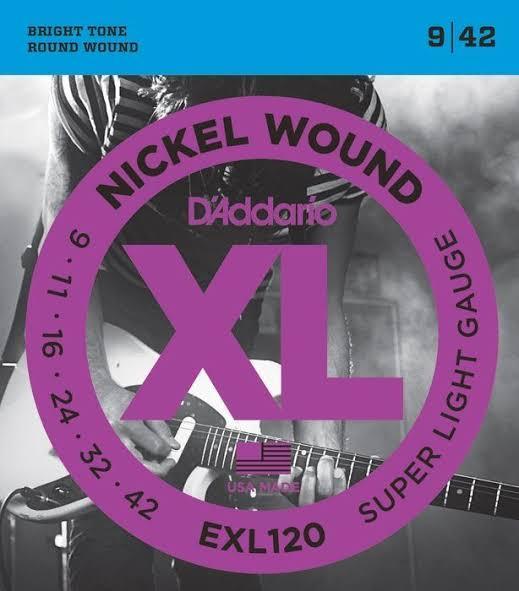 D/'Addario EXL120 Super Light 09-42 electric guitar strings 1 Set