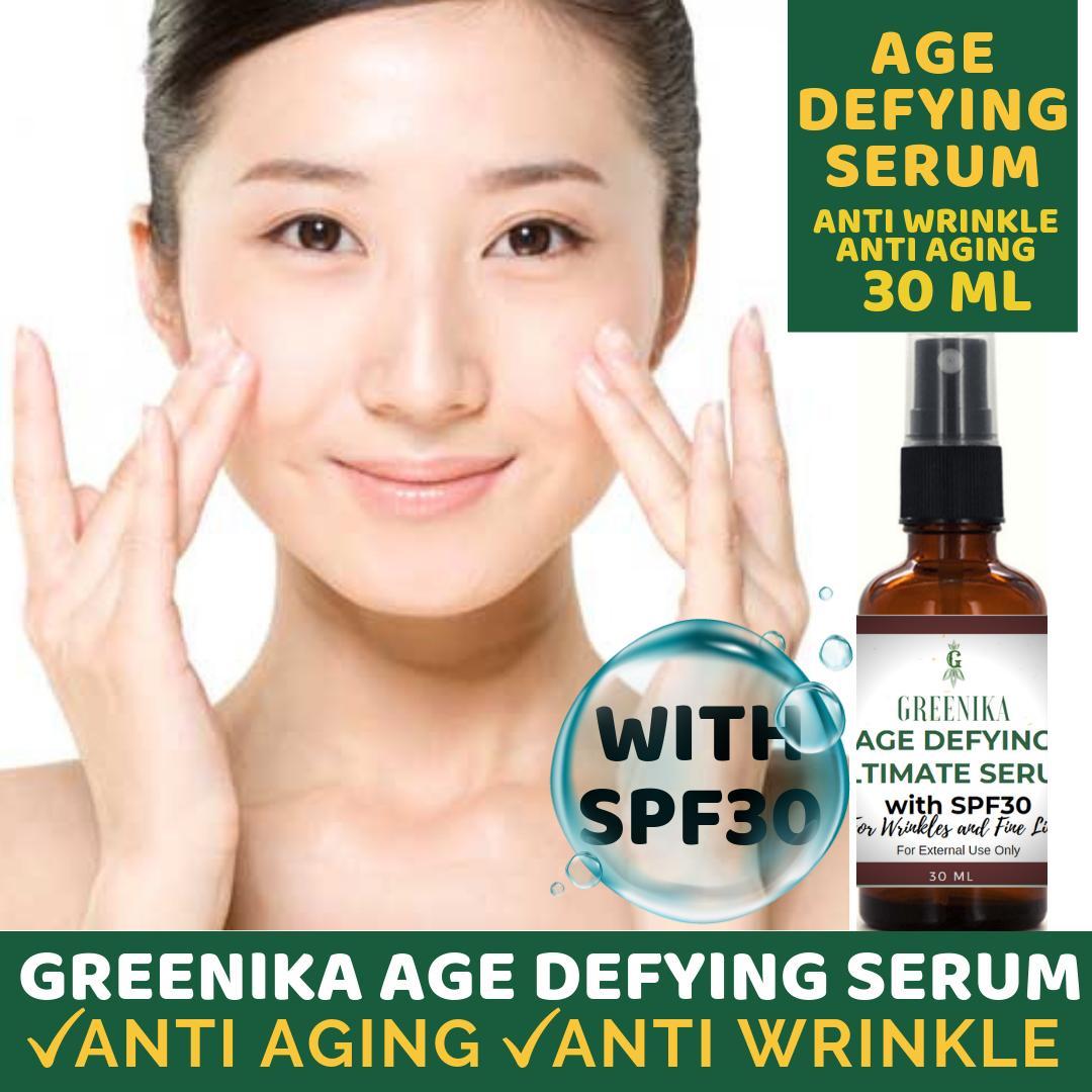 Greenika Age Defying Serum Anti Aging Serum Anti Wrinkle Anti Aging Facial  Serum Reduces Appearance of Puffiness, Wrinkles, Crows Feet & Fine Lines