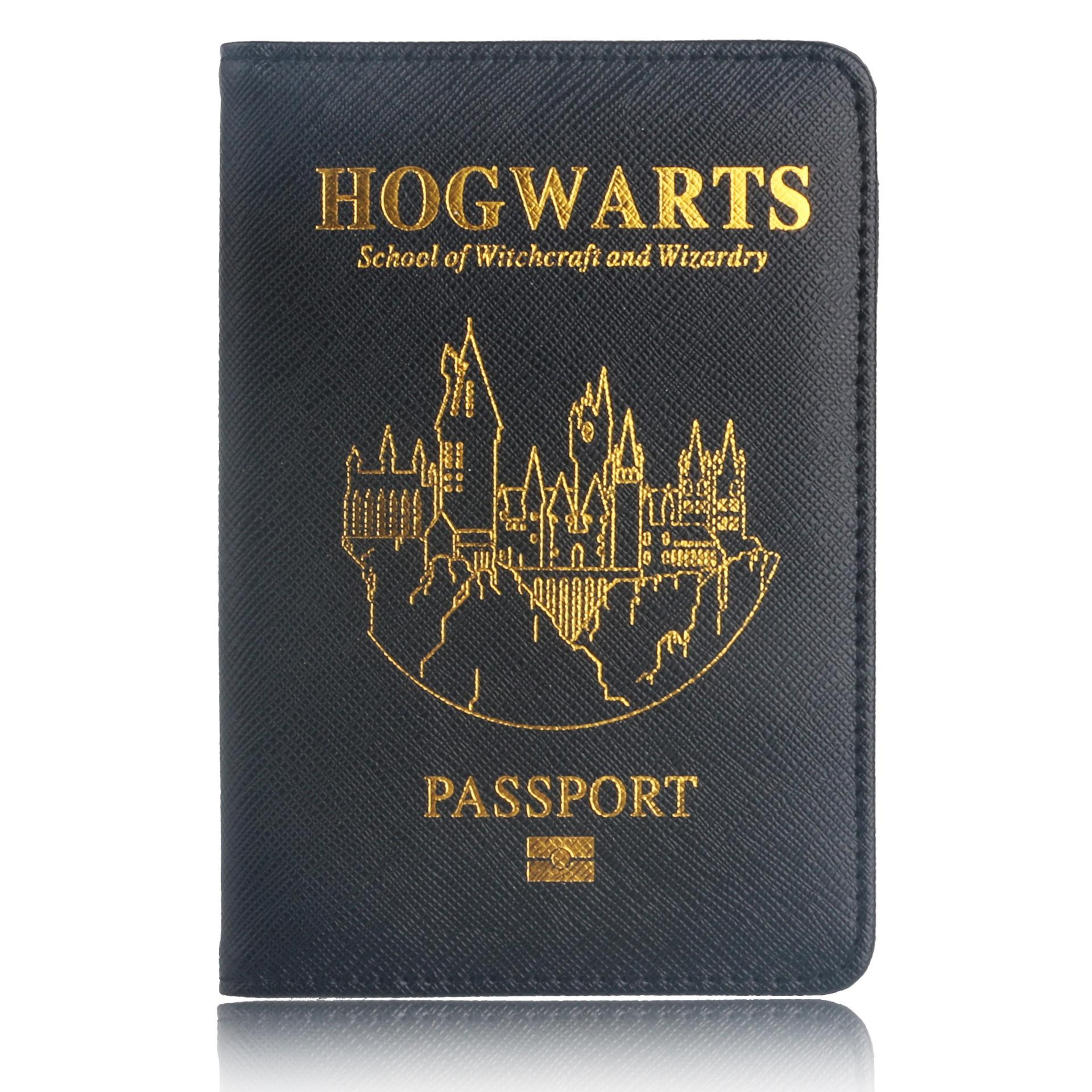 cb0a48515b5 Multifunctional Rfid Blocking Harry Potter Passport Cover Leather Hogwarts  Gryffindor Ravenclaw Passport Holder Case