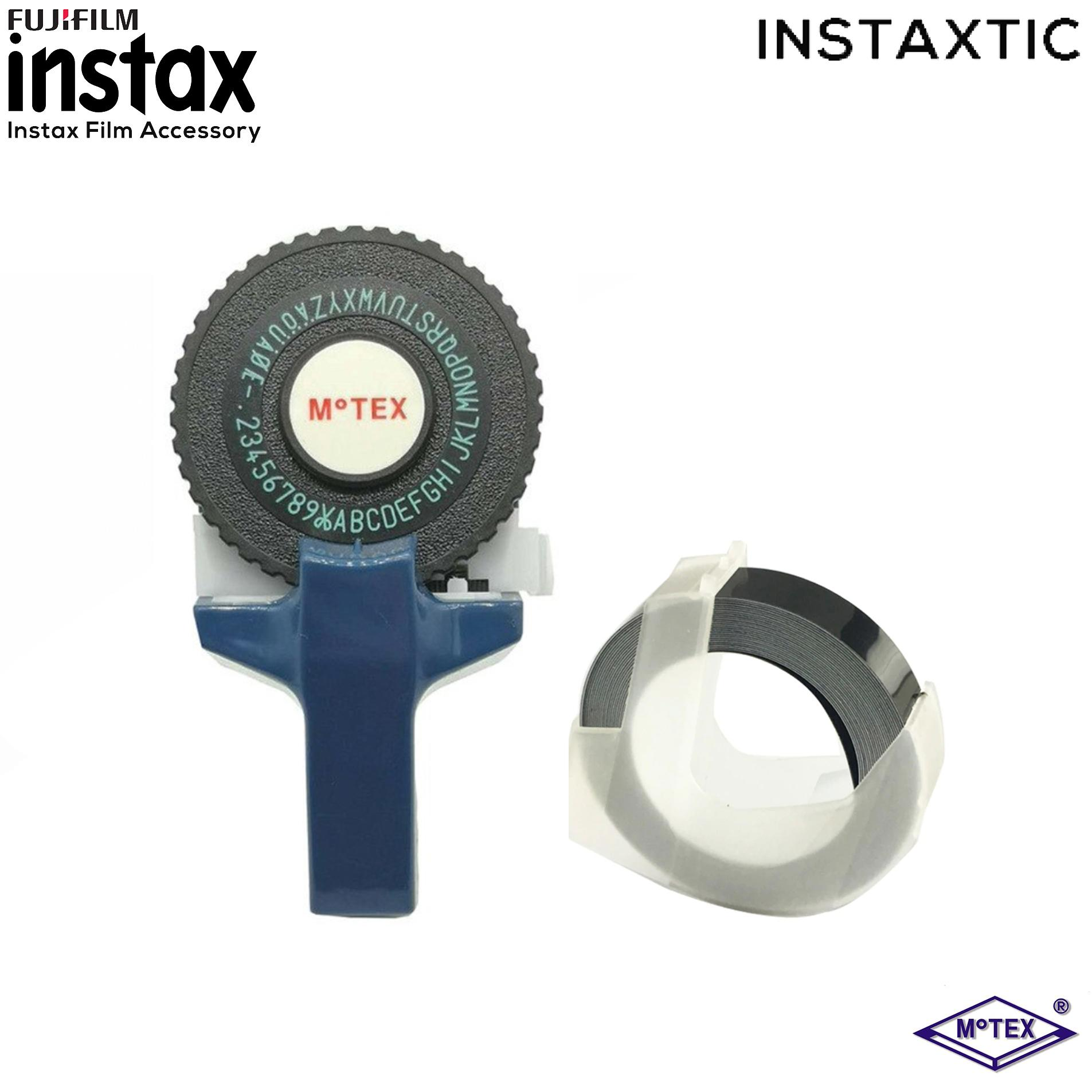 Motex Label Maker E-101 With Free 1 Pc Black Motex Tape By Instaxtic.