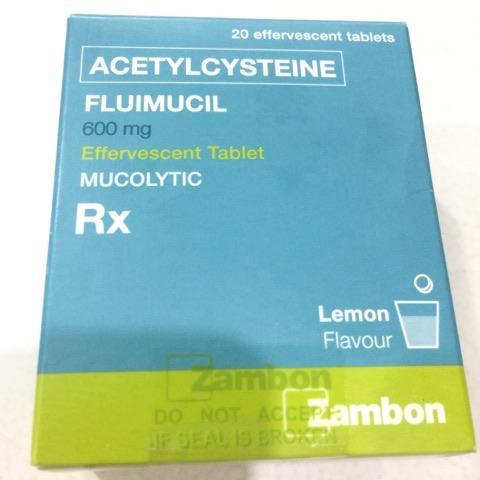Fluimucil Acetylcysteine 600mg X 5 Tablets By Merz Pharmacy Ph.