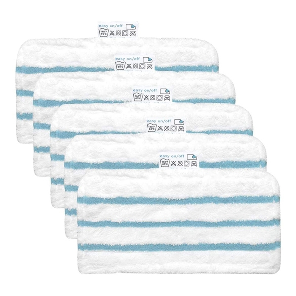 Pack of 5 Washable Microfiber Pads for Black&Decker Steam Mop Replacement Cover Compatible with FSM1616, FSM1630