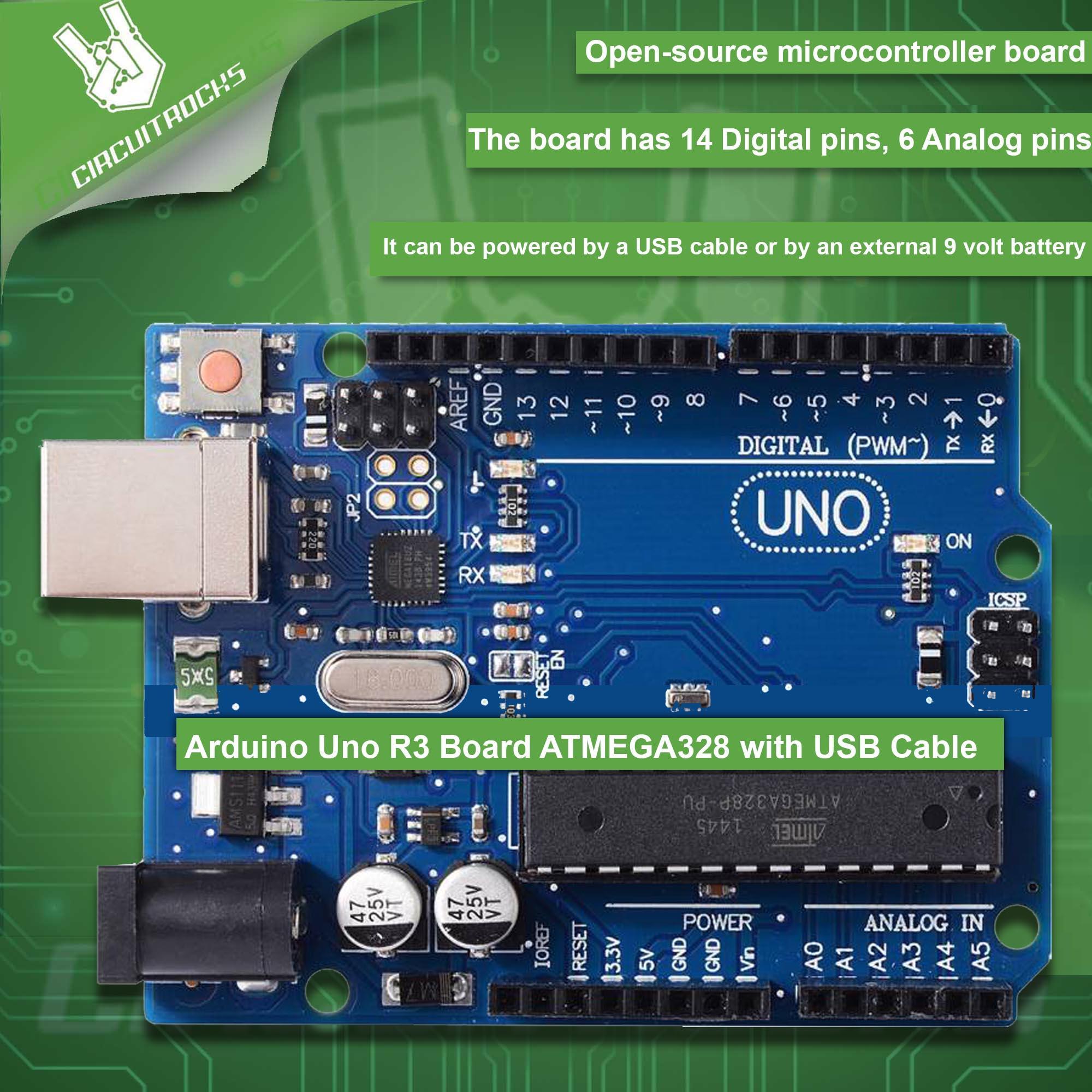 Arduino Uno R3 Board ATMEGA328 with USB Cable