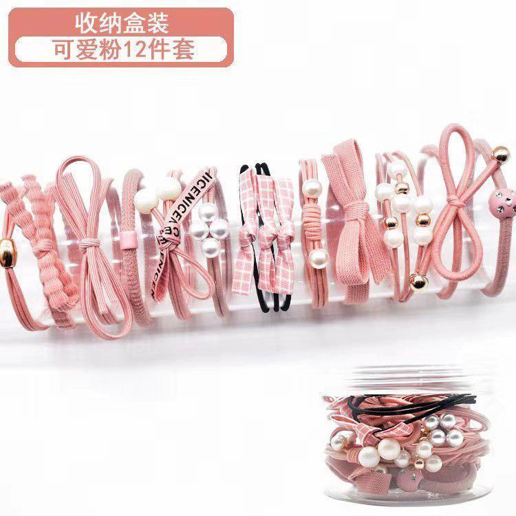c6b84f262 DESTINY J050 Korea Fashion 12Pcs/Set Korea Headwear Women Girl Elastic  Rubber Hair Ties Hair