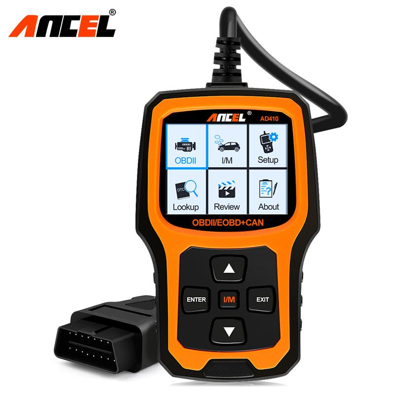 Ancel Ad410 Enhanced Obd Ii Vehicle Code Reader Automotive Obd2 Scanner Auto Check Engine Light Scan Tool (black/yellow) By Obdspace Store.