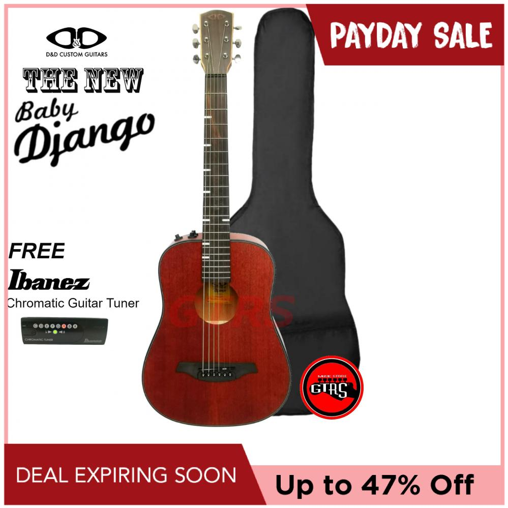 D&D Baby Django Acoustic Guitar with Pickup (Mahogany)