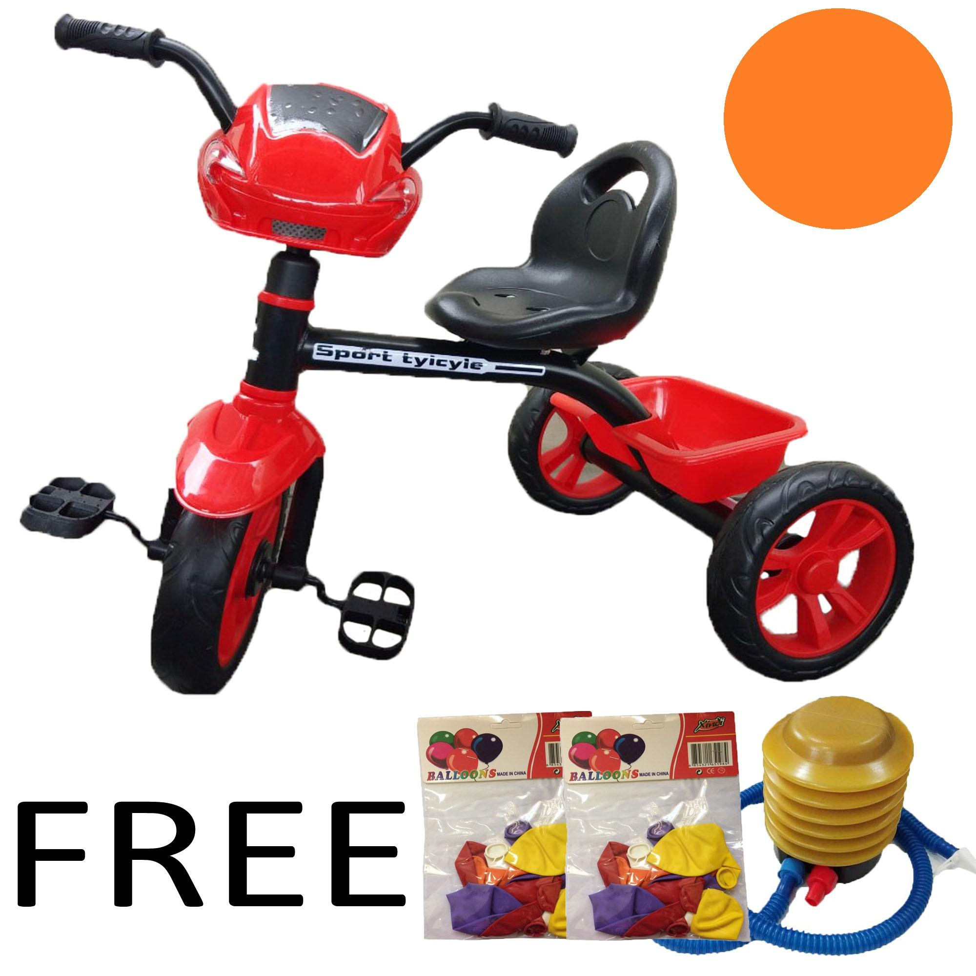 a20a649a104 Children's Learning Bike Tricycle Trike Three Wheel Bike for Kids FREE  2packs Ballons + 1Pc.