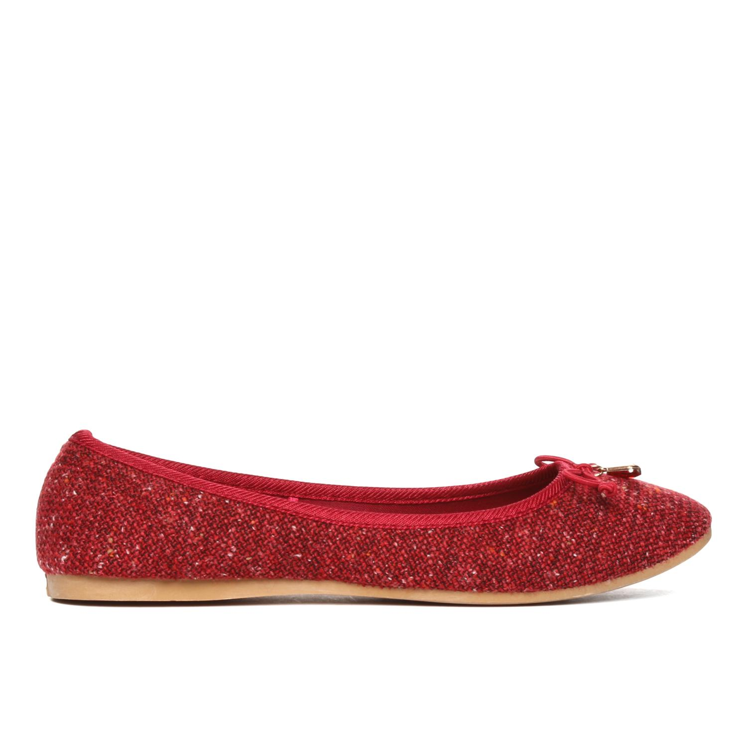 5f6d7f56b2 Product details of Solemate Ladies Kim Ballet Flats in Red