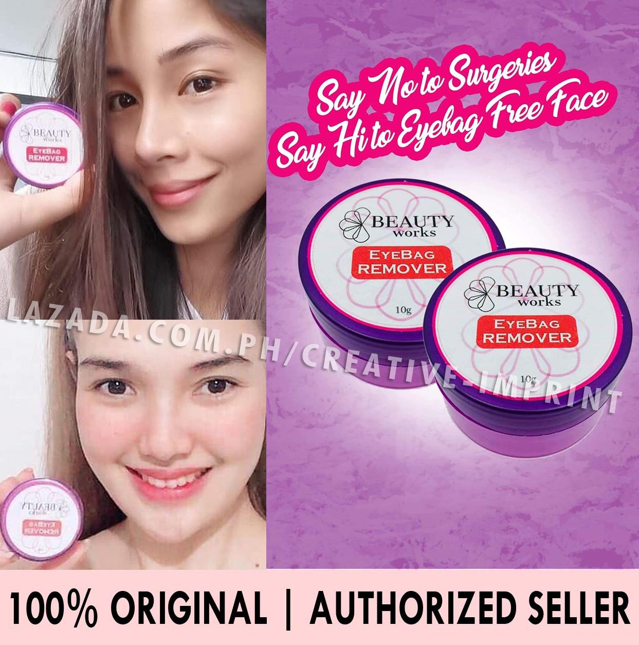 Authentic Beauty Works Eye Bags Remover Cream Eyebag 10g By Creative Imprint.