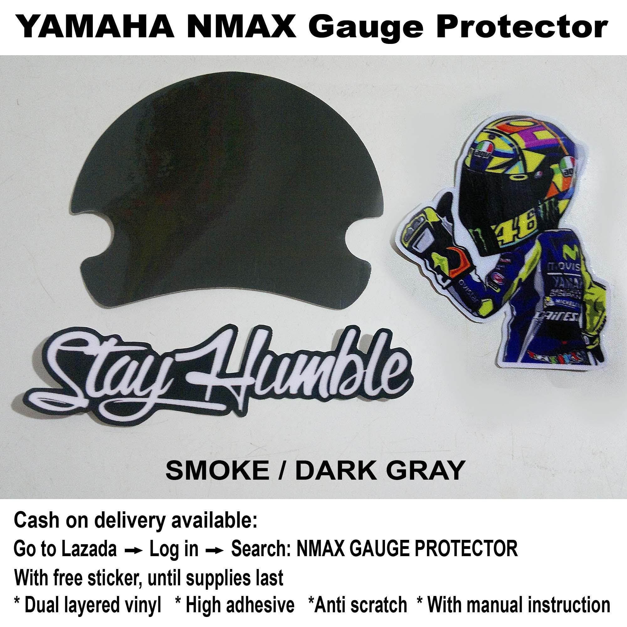 Nmax Gauge Protector (dark Grey) By Ej Cycle Graphics.
