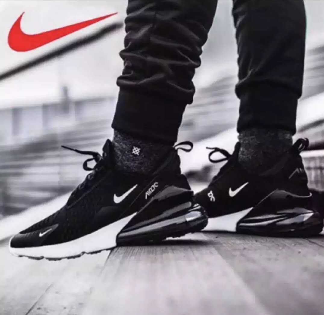 NIKE AIR MAX 270 FIYKNIT SHOES BLACK