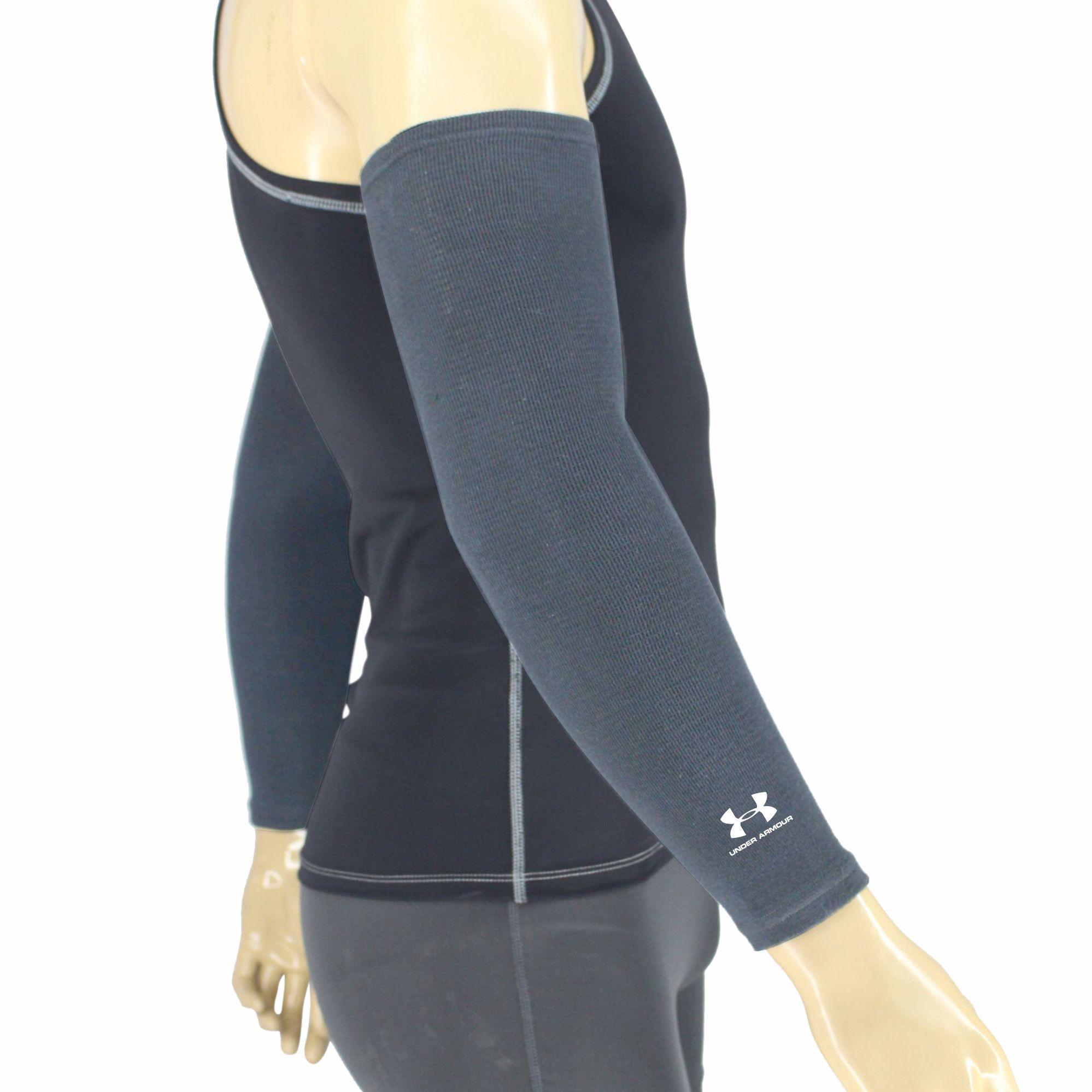 Rainorshine Ua18 Compression Arm Sleeves 2-Way Elastic Knitted Seamless Unisex Pair (2 Pcs) By Umbrella Rain Or Shine.