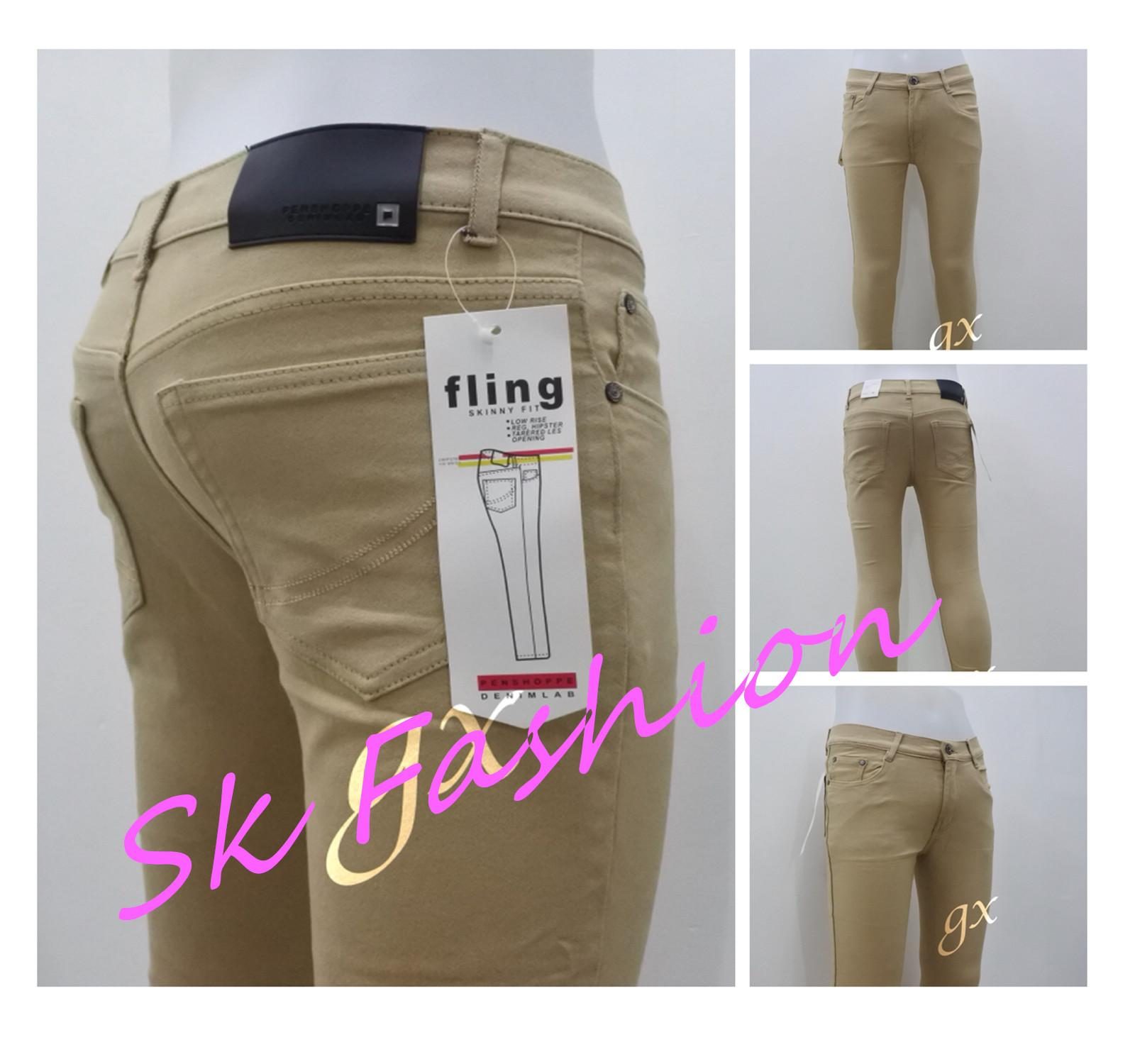 f0bf95efe490f2 Sk Fashion Mens Khaki Skinny Cottion strach jeans, Comfortable, Trendy Jeans  Pants