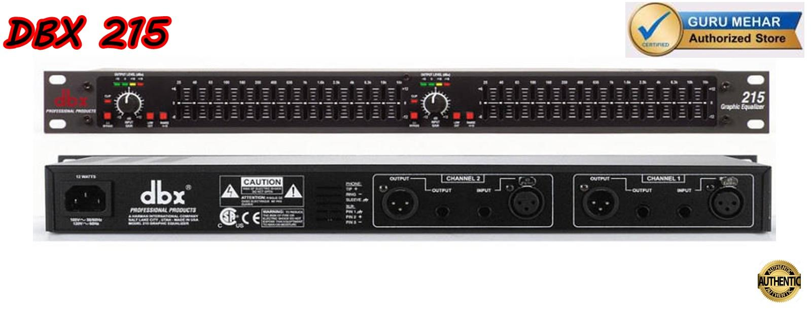 DBX 215 Dual Channel 15-Band Equalizer