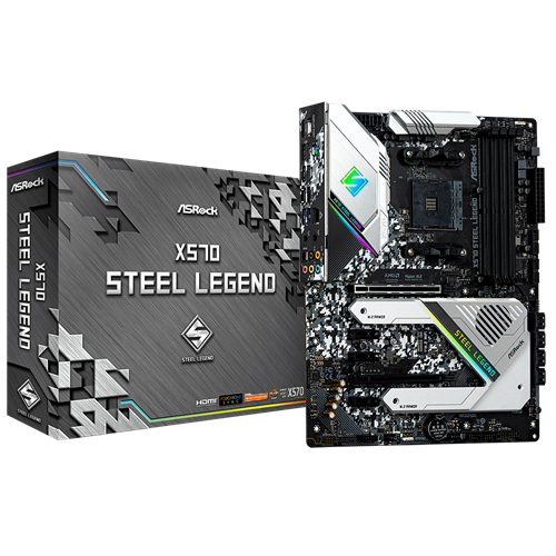 X570 Steel Legend Supports AMD AM4 Socket Ryzen™ 2000 and 3000 Series processors 10 Power Phase Design Supports DDR4 4666+ (OC) 2 PCIe 4.0 x16, 3 PCIe 4.0 x1, 1 M.2(Key E) For WiFi AMD Quad CrossFireX™ and CrossFireX™ Graphics Output Options: HDMI, Displa