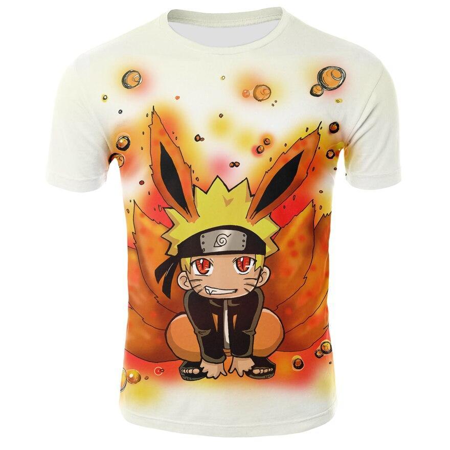 2019 summer hot anime t shirt Uzumaki Narut0 clothing hip hop men/'s t-shirts top