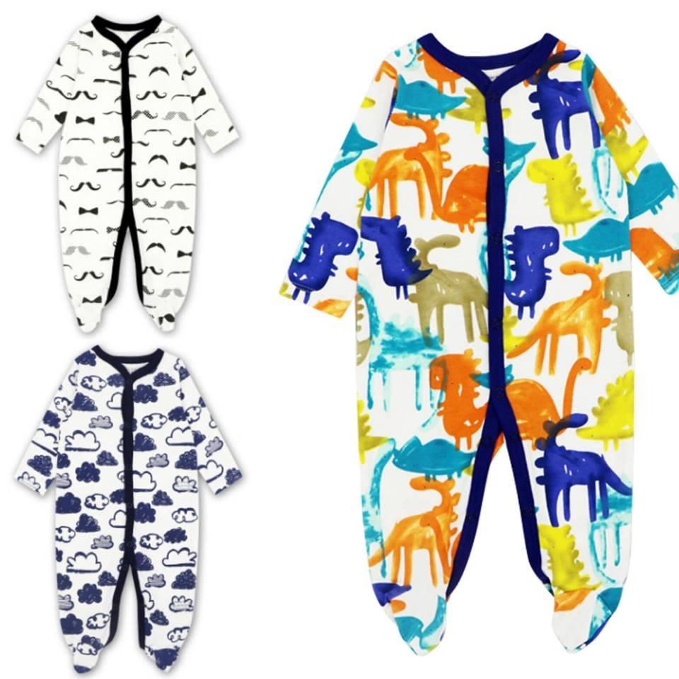 Mk103 Motherkids Premium Quality Sleepsuit 3 Pcs By Fashion & Trend Ph.