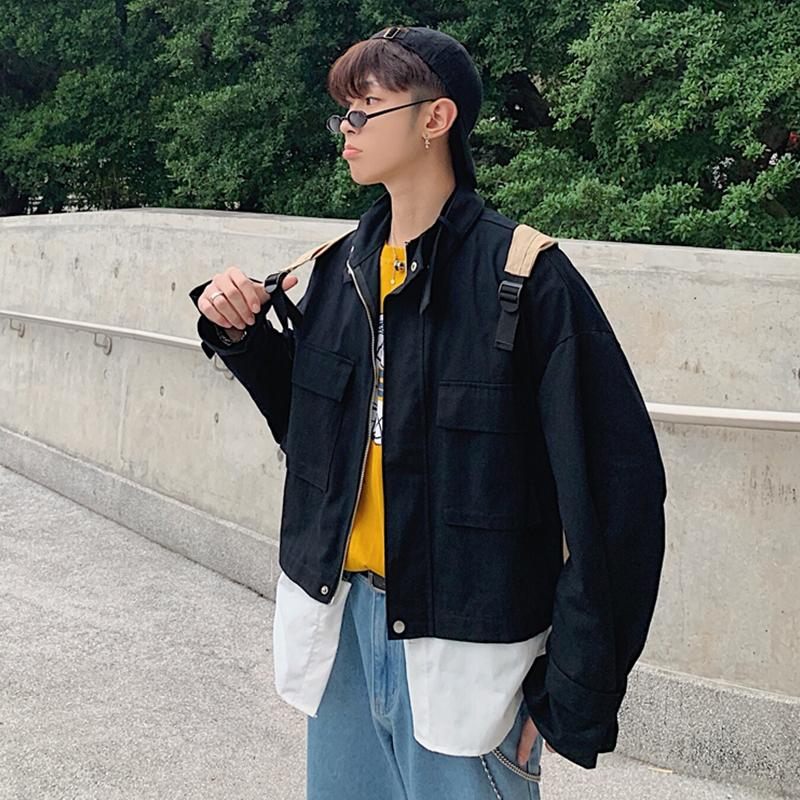 daa7d2faf1d INS WorkWear Coat man Spring And Autumn Hong Kong Style Korean Style Loose  Trend Popular Brand