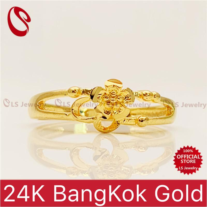 LSjewelry 24K Bangkok Gold Plated Fashion for women Ring[one ring]R36