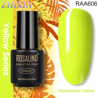 Zhixin Rosalind Sunset Yellow 7Ml Warna Lemon Grain Rendam UV Polandia Pernis Dekorasi thumbnail