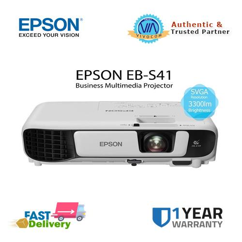 Epson EB-S41 3,300 Ansi Lumens SVGA 3LCD Home / Business Projector (NEW  MODEL)