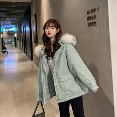 Ngắn Xuống Áo Quần Áo Cotton Nữ Hàn Quốc Lỏng Lẻo Vào Mùa Thu Và Mùa Đông Áo Khoác Áo Khoác Mùa Đông 2020 Năm Mới Của Phụ Nữ Dày