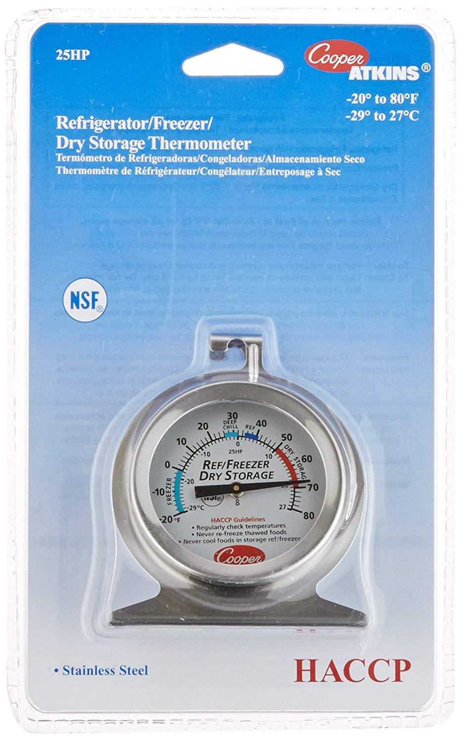 Cooper-Atkins 25hp-01-1 Refrigerator Freezer Dry Storage Thermometer By Galleon.ph.