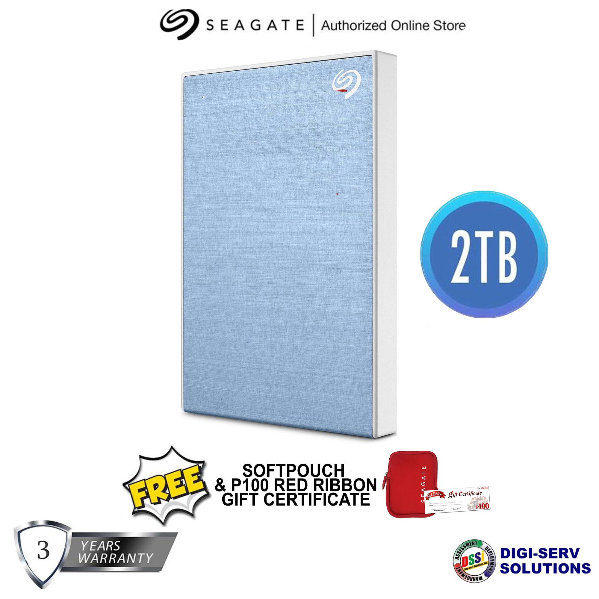 Backup Plus Slim 2TB External USB 3.0//2.0 Portable Hard Drive Blue Seagate