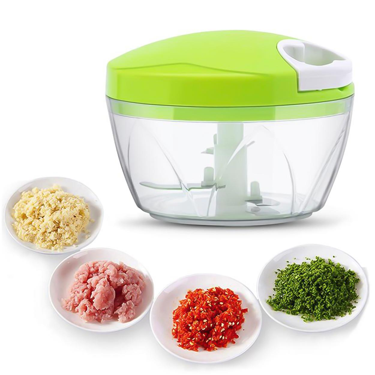Hand Pull Type Multifunctional Food Speedy Chopper (green) By Starhome.
