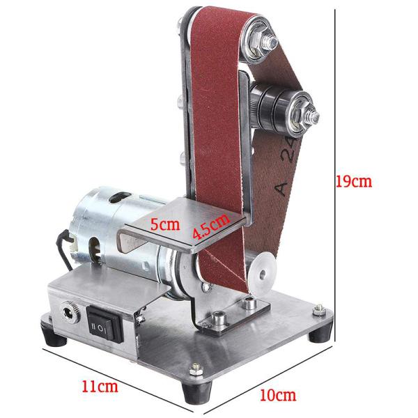 350W Mini Electric Belt Machine Sander Sanding Grinding Polishing Machine Abrasive Belts Grinder DIY Polishing Cutter Edges