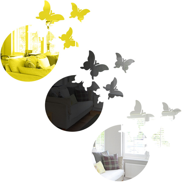 ZIPSTORE16E1 Home Acrylic Removable Butterfly Mirror Combination Mural Sticker Mirror Wall Stickers Home Decoration giá rẻ