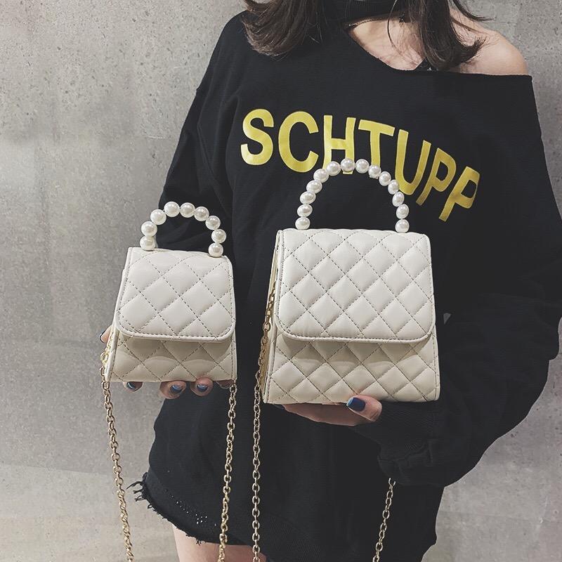 Online Celebrity Black Package Graceful Pearl Handbag Bag Female 2019 New Style Chain Shoulder Bag CHIC Shoulder Small Bag