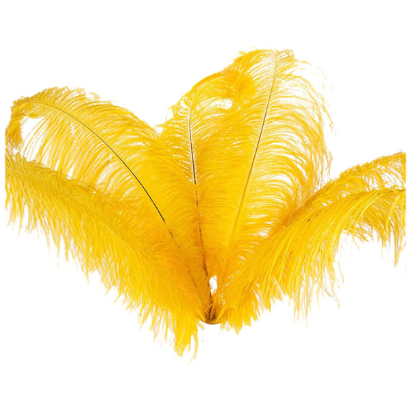Mua 10 pcs Natural Ostrich Feathers Wedding Party Decoration Yellow 20-25cm