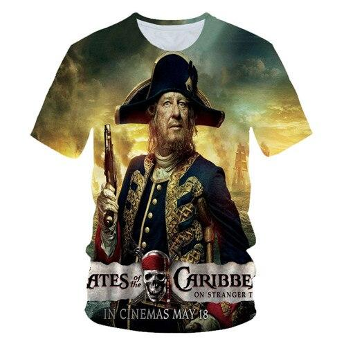 Pirates of the Caribbean 3D print women//men/'s Short Sleeve Casual Tops T-Shirt
