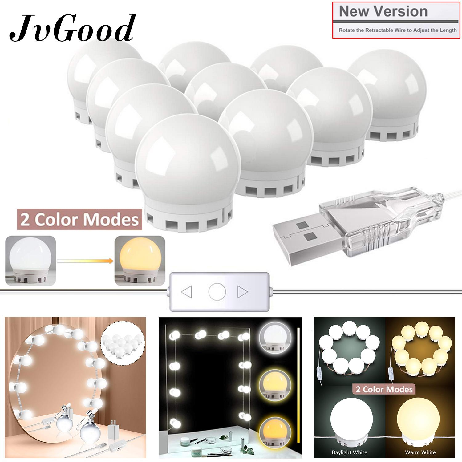 JvGood Mirror Lights Vanity Mirror Light Make Up Mirror LED Light Lamp Kit Makeup Mirror Light Hollywood Style Lighting Fixture Strip LED Bulb Mirror Light for Makeup Vanity Dressing Table (New Version) Philippines