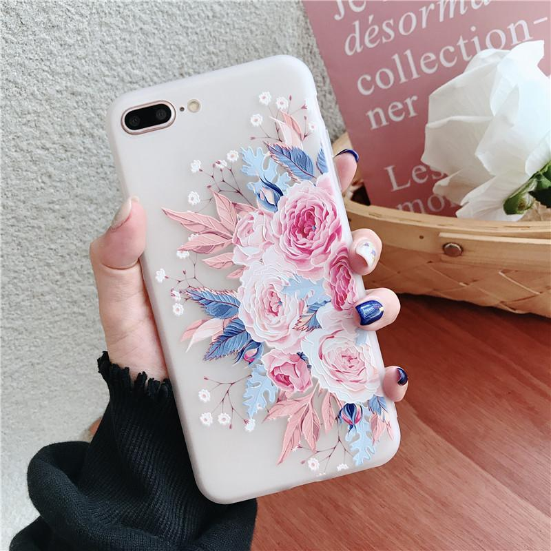 98139f3c0a Fashionable OPPO F7 Soft TPU Case Men Waves Lady Matted Floral Phone Cases  For oppof7 Back
