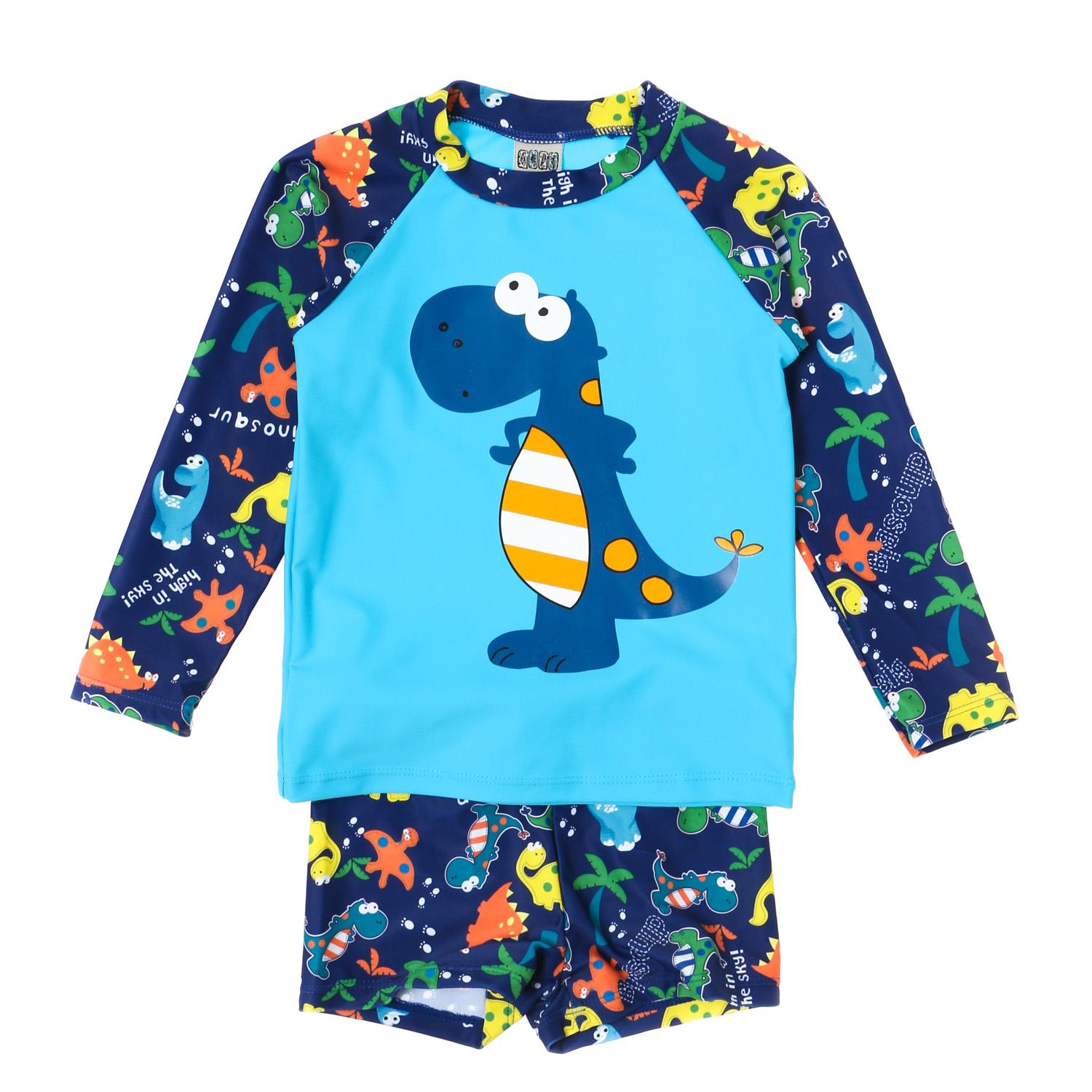 Sandbox Baby Boys Dino Rash Guard Set In Blue By The Sm Store.