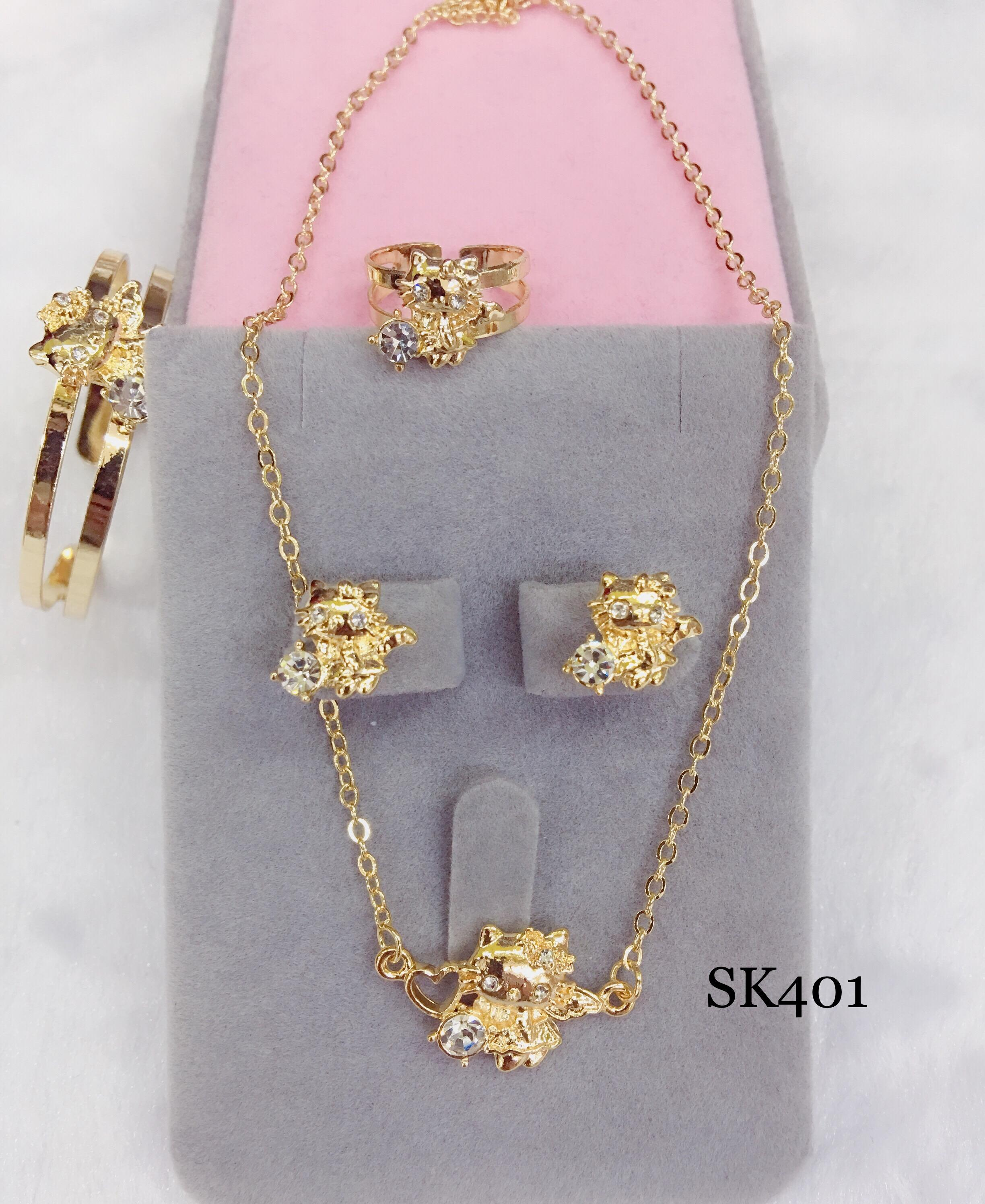 Sk401 18k Rose Gold 4 In 1 Set For Kids By Miss M Shop.
