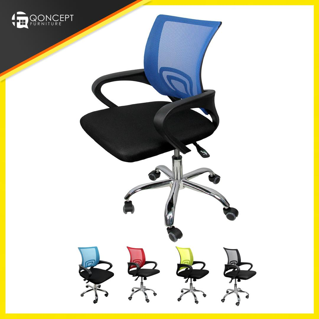 Qoncept Furniture Best Seller Low Back Mesh Back Office Chair 360 Swivel Function With Rollers 625b