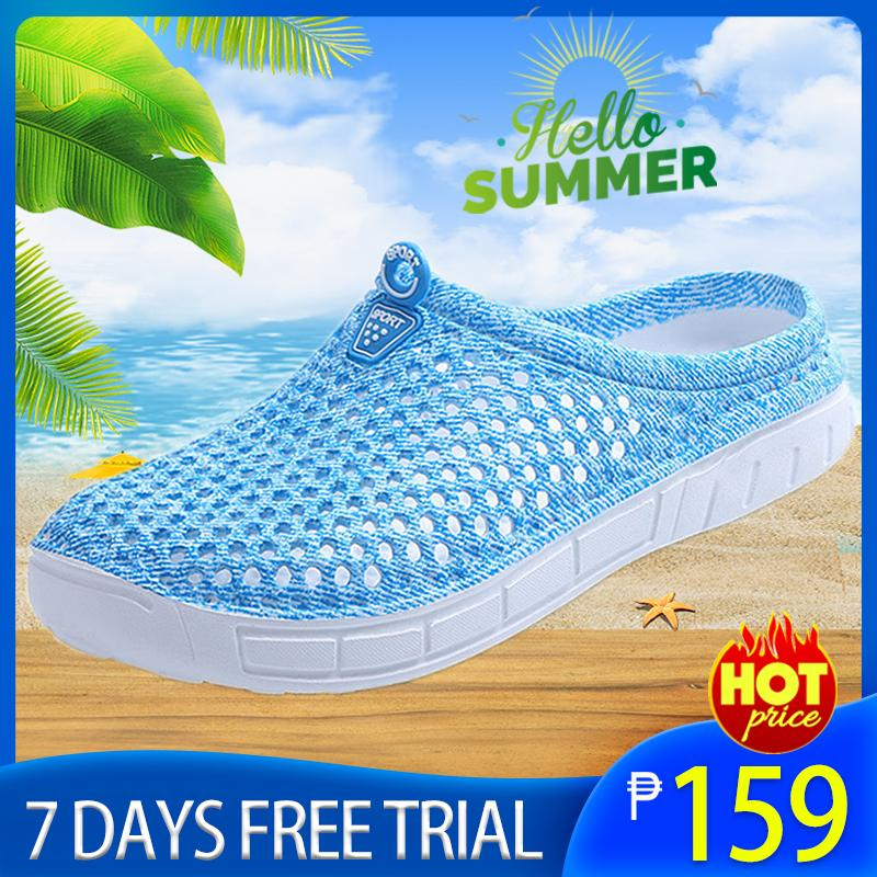 465261eb76 Women Slippers Crocs Style Hollow-out Beach Sandals Summer Outdoor Sports  Casual Water Shoes