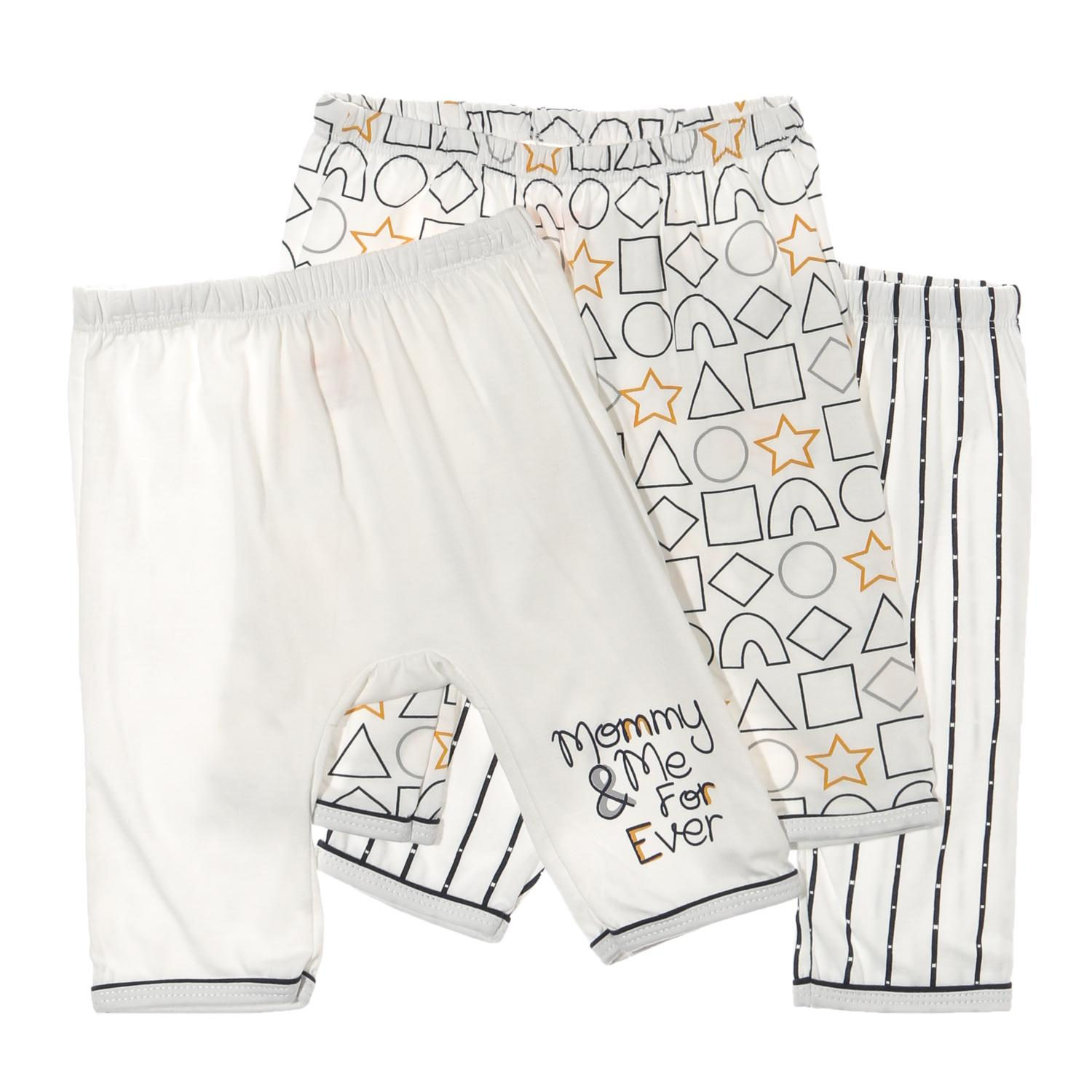 Hush Hush Baby Boys 3-Piece Shapes Drop-Crotch Pajama Set By The Sm Store