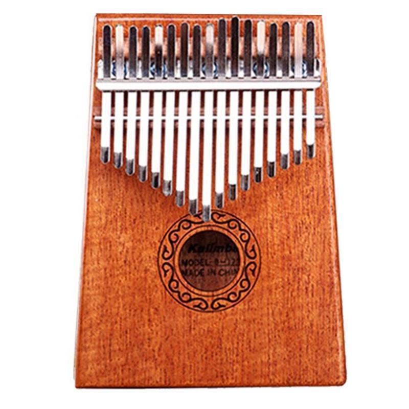17 Keys Kalimba African Solid Thumb Finger Piano 17 Keys Solid Wood Kalimba Musical Instrument Mahogany