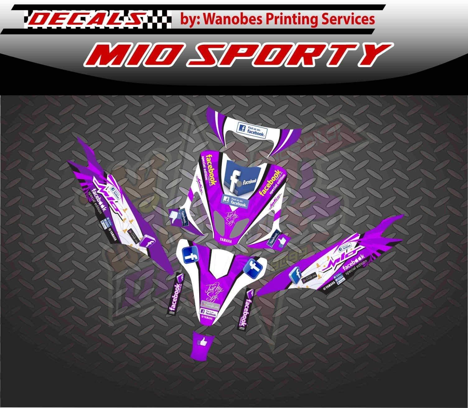 Product details of mio sporty decals