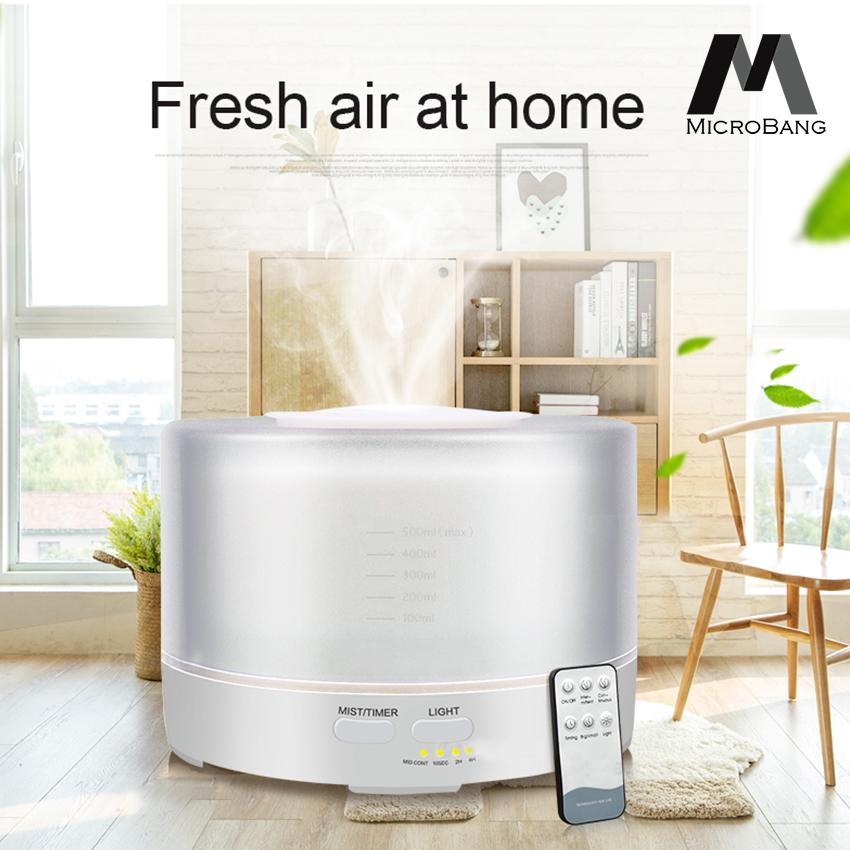 Microbang Air Humidifier Ultrasonic Aroma Diffuser Cool Mist Humidifier Essential Oil Diffuser Aromatherapy Diffuser Wooden Air Purifier Color Changing Air Treatment Mist Maker By Digital Times Square.