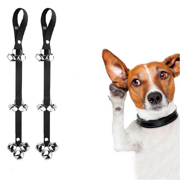INSCRIBE SOLILOQUY67IN6 Large Dog Supplies Dog Trainings Puppy Training Pet Bells Adjustable Strap Dog Doorbells Door Bell