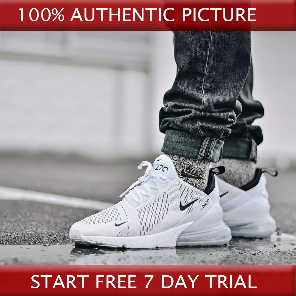 best service 68b22 1af26 Nike Air Max 270 Flyknit Shoes White Black red Running Shoes for Men and
