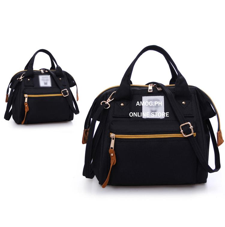 AMOG Korean 3 Way Shouder Bag Backpack Sling Bag Office Bag School Bag  Simple Canvas Cross 81dc455d1fcce