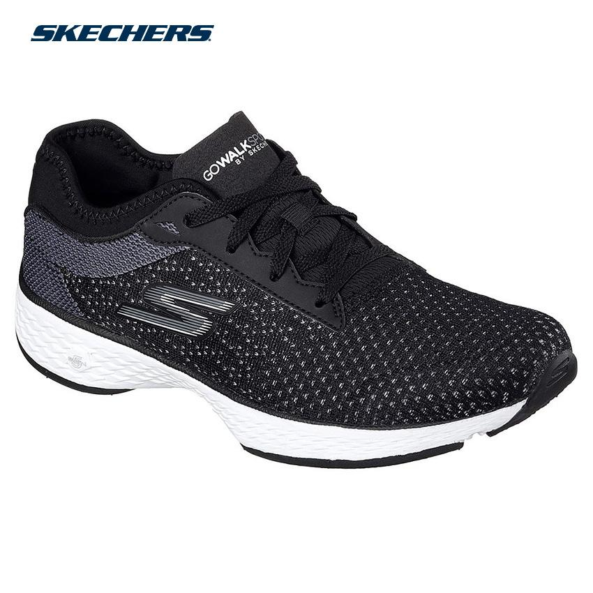 919c35fc5698 Skechers Women Go Walk Sport Shape-Ups Footwear 14141-BKW (Black White)