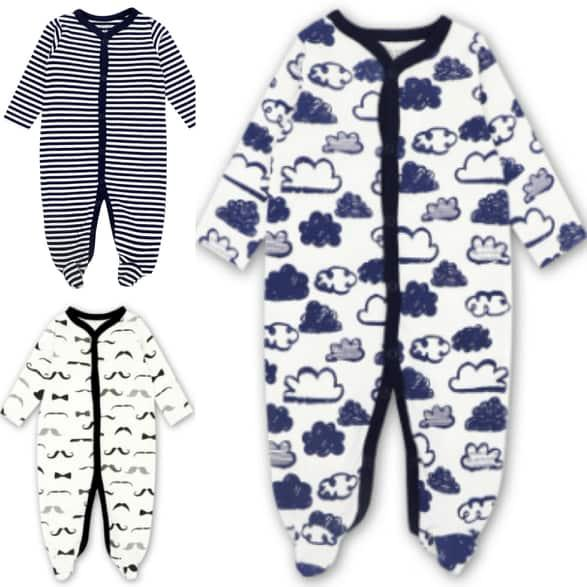 Mk006 Mother Kids Premium Quality Sleepsuit For Baby Boys 3 Pcs By Fashion & Trend Ph.